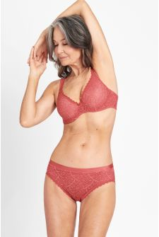 Berlei Barely There Lace Bikini Spartan Red WWUT1A 75C