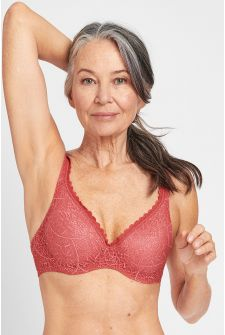Berlei Barely There Lace Contour Bra Spartan Red YYTP 75C