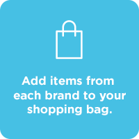 STEP 3. Add items from each brand to your shopping bag.